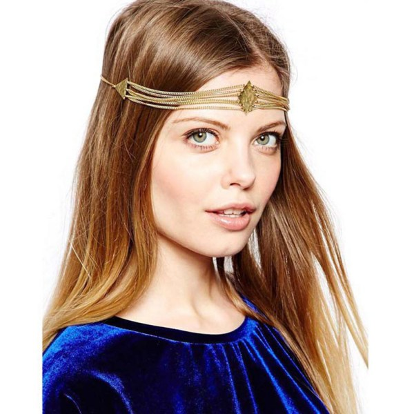Froomer Charming Bohemian Women Metal Head Chain He