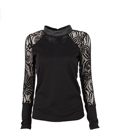 <strong>Froomer Women Turtle Neck Lace Long S</strong>